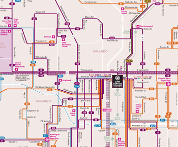 Orlando Metro Map.Maps And Schedules Public Transportation In Orange Seminole Osceol