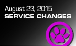 August Service Changes