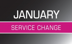 January 2019 Service Changes Image