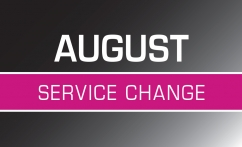 August 25 Service Changes Image