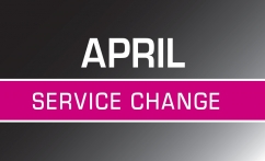 April Service Change Image