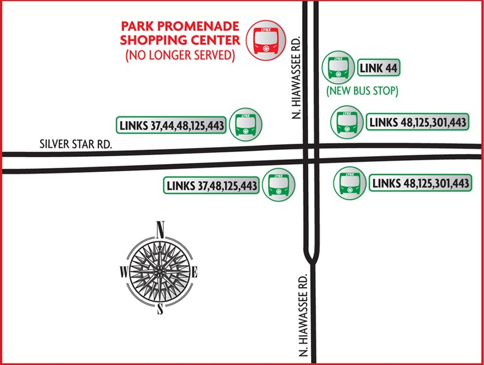 Map of Park Promenade Shopping Center